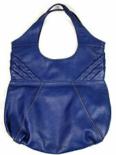 Lucky Brand Navy Blue Leather Hobo Slouch Shoulder Bag Handbag Perfect