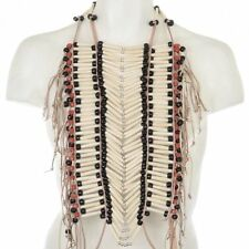 Medicine Man White Buffalo Pipe Bone Apache Style Breastplate