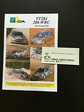 DECALS 1/24 PEUGEOT 206 WRC GRONHOLM RALLYE PORTUGAL 2000 RALLY PORTUGHESE