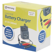 Plug-in 6V or 12V 500mA Lead Acid Battery Charger for Charging 5Ah Batteries