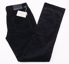 NWT $650 BRIONI 'Stelvio' Black Cotton Corduroy Five-Pocket Pants 34 Jeans