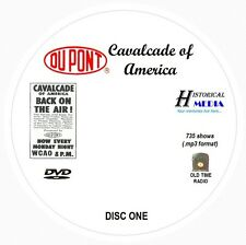 CAVALCADE OF AMERICA - 735 Shows Old Time Radio In MP3 Format OTR On 2 DVDs