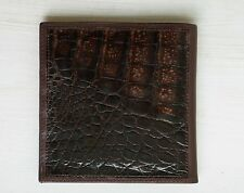 Vintage 80's Bond Street Ltd Caiman Alligator Crocodile  4x4 Wallet NEW $145