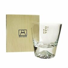 Tajima glass EDO GLASS Mt.Fuji rock glass TG15-015-R For Gift Made in TOKYO F/S