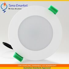 13W Samsung LED Downlight Kit Dimmable White Frame Frosted Lens Flush Face SAA