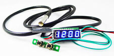 "0.28"" Panel Meters Blue LED 3 in 1 Digital Probe thermometer Car Clock Voltmeter"