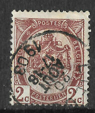 posted 20th august 1903 antique - belgium brown 2c stamp - see scan