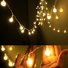 Globe String LED Hanging Party Light Indoor Outdoor 40 Plastic Globes 13 Feet