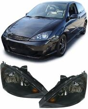 BLACK / SMOKED HEADLIGHTS HEADLAMPS FOR FORD FOCUS 1998-2004 NICE GIFT ITEM