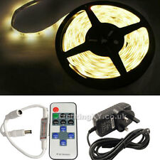 FULL KIT Quality 5M 300 SMD LED Strip Light +Power Supply +REMOTE Flasher Dimmer