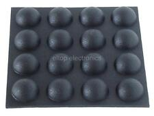 16x Round Rubber Foot Self-Adhesive Black Feet #RF06