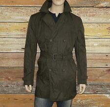 NEW John Varvatos Modern Trench Coat in Fatigue Size XL Slim Cotton was $498.00