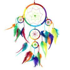 Large Dream Catcher Multi Hoop Beautiful Rainbow Dreamcatcher -  Kids / Adults