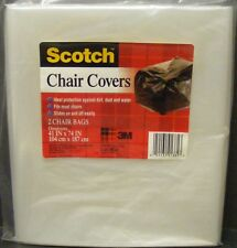 SCOTCH SET OF 2 TWO CHAIR COVERS BAGS FURNITURE PROTECTION 3M 8041 NEW SEALED