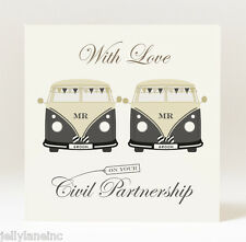 Handmade Civil Partnership Campervans Mr & Mr Card