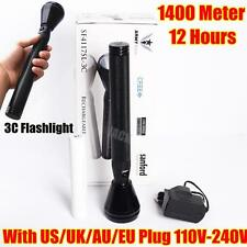 Sanford 1400Meter CREE LED TACTICAL High Power RECHARGEABLE FLASHLIGHT 1 Mode 3C
