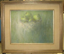 John McClelland Modernist Bowl of Apples Listed Connecticut Artist Illustrator
