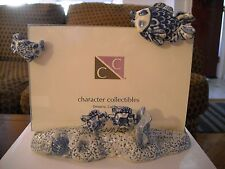 """Nautical - Fish Delft Blue Picture Frame (Holds 4"""" x 6"""" photo)"""