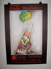 Vintage poster by Rodo Boulanger N.Y Art Expo '80  child in stroller w/balloons