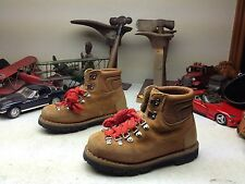 KINNEY COLORADO ITALY VINTAGE BROWN LEATHER MOUNTAINEER HIKING TRAIL BOOTS 3.5 M