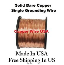 12 AWG SOLID BARE COPPER SINGLE GROUNDING WIRE ( 50 FT. 1 Lb. Spool