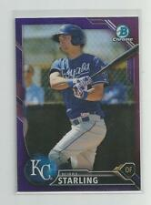2016  Bowman Chrome  BUBBA STARLING   Purple Refractor  071/250