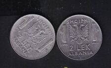 1939 Albania 2x2Leke. Italy Italian Occupation Coins. Magnetic+No Magnetic.N104