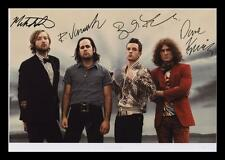 THE KILLERS AUTOGRAPHED SIGNED & FRAMED PP POSTER PHOTO