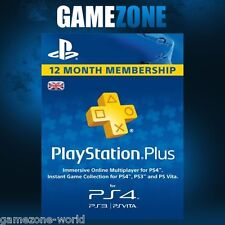 PlayStation Plus PSN 365 Days UK Card - PS Store 12 Month Code - SONY 1 Year Key