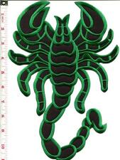 Scorpion biker tattoo Muay Thai applique iron-on patch BIG XL 7.63 x 11 in S-234