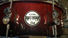PDP CONCEPT MAPLE RED TO BLACK SPARKLE FADE SNARE BY DW DRUMS