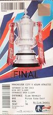 FA CUP WIGAN ATHLETIC / MANCHESTER CITY. BOX TICKET STUB. SCARCE. UK DISPATCH.