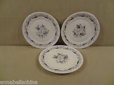 """Pope Gosser """"Blue Azalea"""" 3 Bread & Butter Plates"""