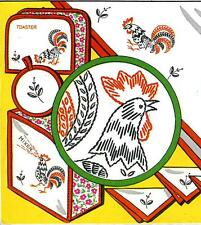 Hand Embroidery Transfer 646 Rooster Chicken for Towels Toaster Mixer Cover