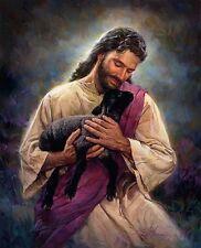 Nathan Greene - LAMB OF GOD - Jesus Holding Black Lamb 16x20 open edition print