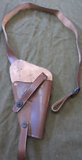 WWII US ARMY S&W VICTORY .38 SPECIAL PISTOL M3 SHOULDER HOLSTER-BROWN