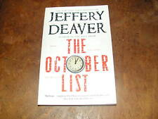 The October List by Jeffery Deaver 2014, Trade Size Paperback