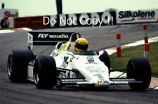 Ayrton Senna Williams FW08C Donington Park Test 1983 Photograph 2
