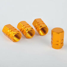 4PCS Aluminum Tire Wheel Rims Stem Air Valve Caps Tyre Cover Car Truck Bike Gold