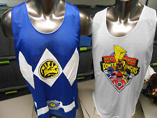 Mens Licensed Power Rangers Reversible Basketball Jersey Shirt New S