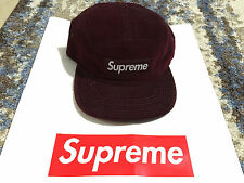 Supreme Croc Corduroy Burgundy 5 panel Camp Cap - Box Logo 6 panel S maroon