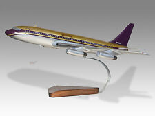Boeing 720 Starship Led Zeppelin Mahogany Wood Handmade Desktop Airplane Model