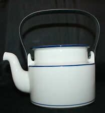 Dansk Bistro Christianshavn Blue Tea Coffee Pot Black Handle NO LID AS-IS