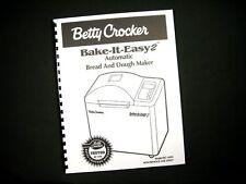 Betty Crocker BC-1692 Bread Maker Machine Instruction Manual & Recipes