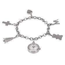 MADISON New York Damenuhr - Bettelarmband mit 6 Charms, NewStyle2, NEU+OVP