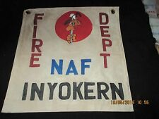 WWII DISNEY PLUTO USN NAF INYOKERN FIRE DEPT  WALL   COMMAND POST  FLAG