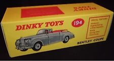 DINKY 194 Bentley COUPE vuoto repro box