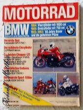 MOTORRAD 8-83+BMW R 80 GS+KAWASAKI T 1000+EGLI RED FALCON+HARLEY FXRS+HONDA VF