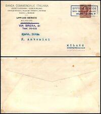REGNO - 10 c Leoni(82) Annullo privato Banca Commerciale Italiana - Milano