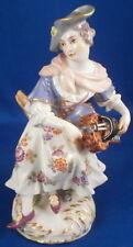 Great Meissen Porcelain Hurdy Gurdy Player Figurine Figur Porzellan Figur German